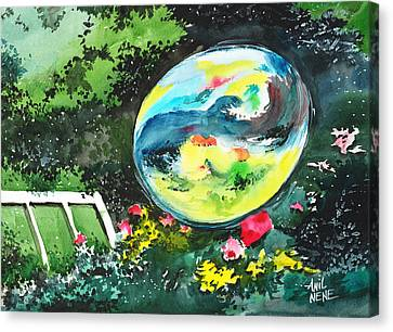 Bubble Reflections Canvas Print by Anil Nene