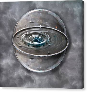 Bubble Sphere Canvas Print by Betsy Knapp