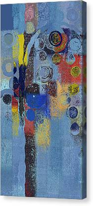 Bubble Tree - 7376106r Canvas Print by Variance Collections
