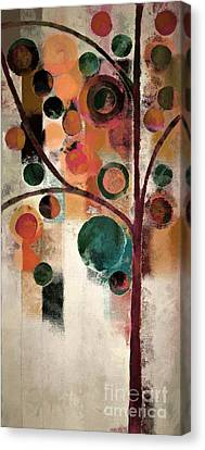 Bubble Tree - J08688 Canvas Print by Variance Collections