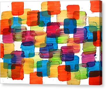 Bubble Wrap Blocks Art Abstract Paintings Splashyart.com Canvas Print by Robert R Splashy Art Abstract Paintings
