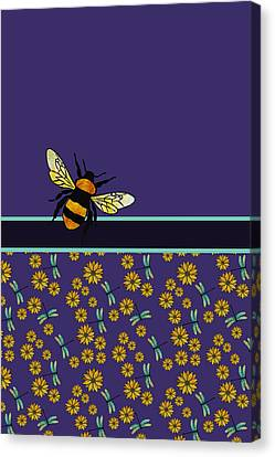 Bubblebee And Friends Canvas Print by Jenny Armitage