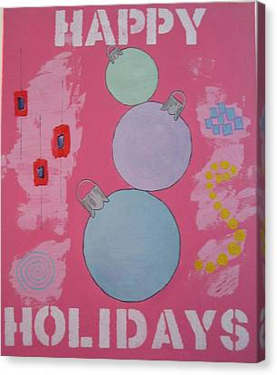 Bubblegum Christmas Canvas Print