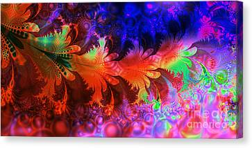 Bubbles And Leaves Canvas Print