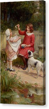 Bubbles Canvas Print by George Sheridan Knowles