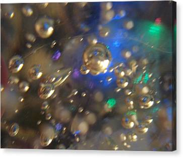 Bubbles Glass With Light Canvas Print