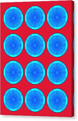 Bubbles Minty Blue Poster Canvas Print by Robert R Splashy Art Abstract Paintings