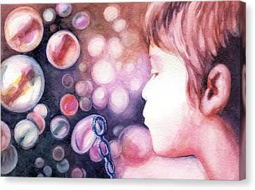 Bubbles Canvas Print by Natasha Denger