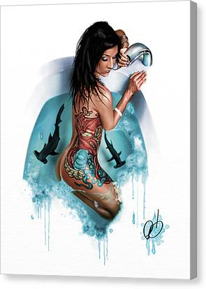 Bubbles Canvas Print by Pete Tapang