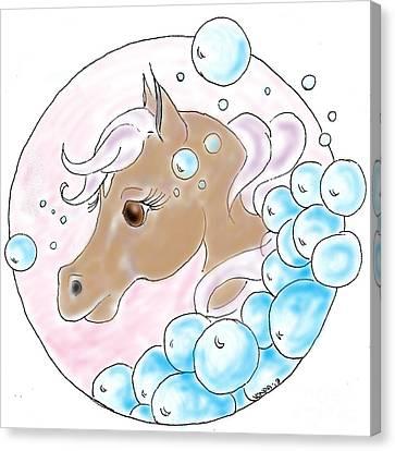 Bubbles Profile Canvas Print by Vonda Lawson-Rosa