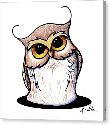 Bubbles The Owl Canvas Print