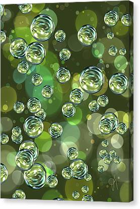 Bubbles Canvas Print by Veronica Minozzi