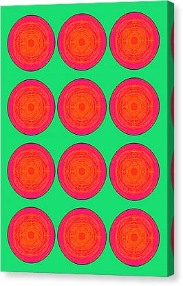 Bubbles Watermelon Warhol  By Robert R Canvas Print by Robert R Splashy Art Abstract Paintings
