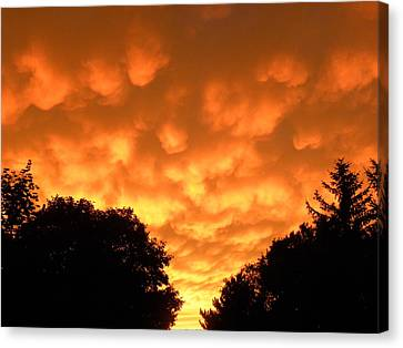 Canvas Print featuring the photograph Bubbling Sky by Teresa Schomig