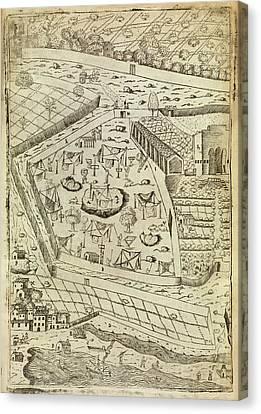 Bubonic Plague Quarantine Site Canvas Print by Middle Temple Library