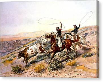 Buccaroos Canvas Print by Charles Russell