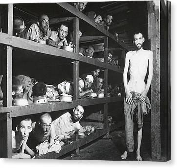 Buchenwald Concentration Camp Survivors Canvas Print by Everett