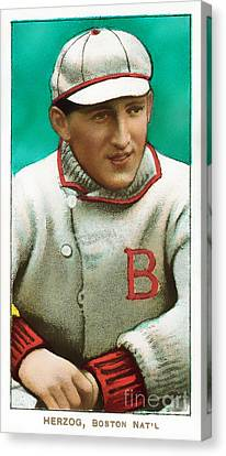 Buck Herzog Boston Braves Baseball Card 0500 Canvas Print by Wingsdomain Art and Photography