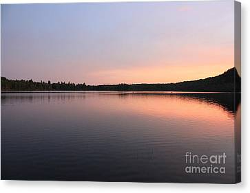 Canvas Print featuring the photograph Buck Pond At Dusk by Paul Cammarata