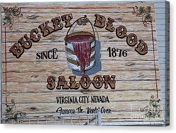 Bucket Of Blood Saloon 1876 Canvas Print by David Millenheft