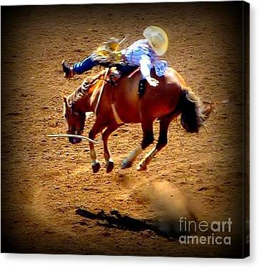 Canvas Print featuring the photograph Bucking Broncos Rodeo Time by Susan Garren