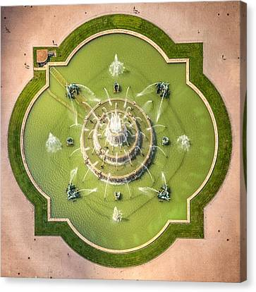 Buckingham Fountain From Above Canvas Print by Adam Romanowicz