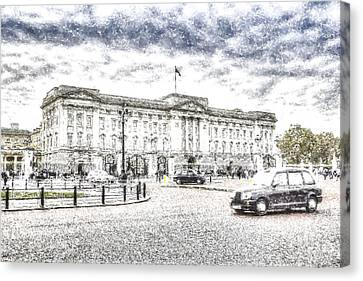 Buckingham Palace Snow Canvas Print
