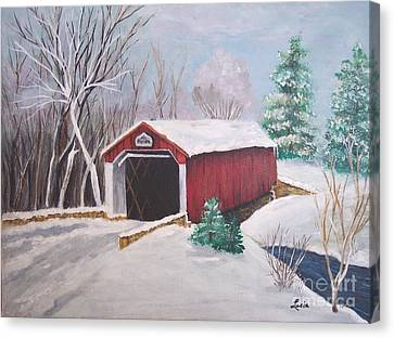 Bucks County Covered Bridge Canvas Print by Lucia Grilletto