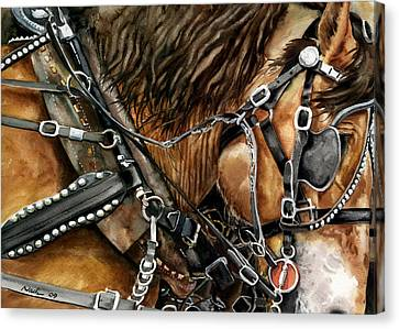 Buckskin Canvas Print by Nadi Spencer