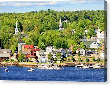 Canvas Print featuring the photograph Bucksport Maine Waterfront by Barbara West
