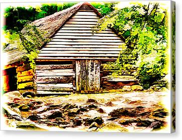 Bud Ogle's Barn Canvas Print by Barry Jones