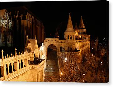 Canvas Print featuring the photograph Budapest At Midnight by Jon Emery