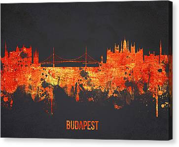 Union Bridge Canvas Print - Budapest Hungary by Aged Pixel