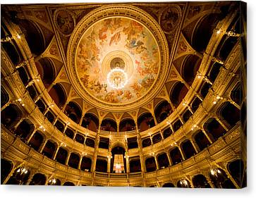 Budapest Opera House Auditorium Canvas Print