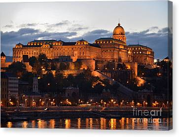 Budapest Palace At Night Hungary Canvas Print by Imran Ahmed
