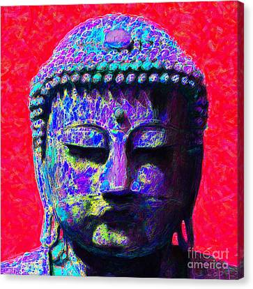 Buddha 20130130p128 Canvas Print by Wingsdomain Art and Photography
