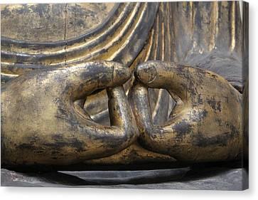 Canvas Print featuring the photograph Buddha 3 by Lynn Sprowl