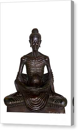 Buddha Attitude Subduing Himself Image Canvas Print