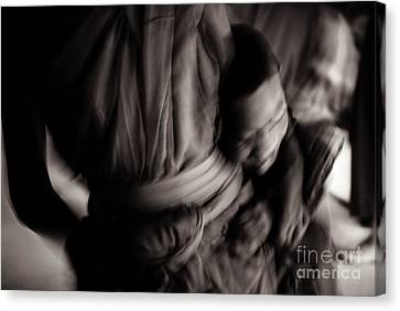 Buddha -boys Will Be Boys - Black And White Version Canvas Print by Dean Harte
