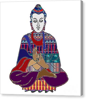 Buddha In Meditation Buddhism Master Teacher Spiritual Guru By Navinjoshi At Fineartamerica.com Canvas Print by Navin Joshi