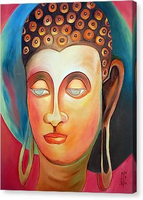 Moksha Canvas Print - Buddha  by Dipali Deshpande