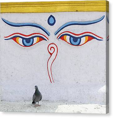 Buddha Eyes Canvas Print