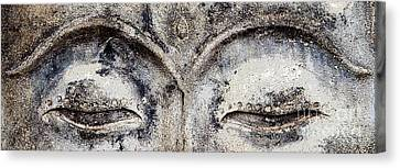 Canvas Print featuring the photograph Buddha Eyes by Roselynne Broussard