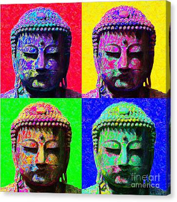 Buddha Four 20130130 Canvas Print by Wingsdomain Art and Photography