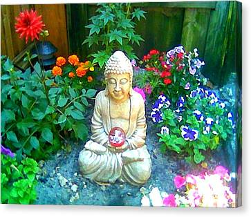 Backyard Buddha Canvas Print