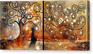 Klimt Canvas Print - Buddha In Bodhi Tree II by Paulina Garoa