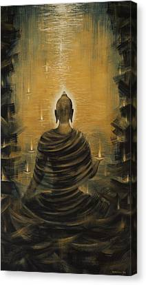 Sacred Artwork Canvas Print - Buddha. Nirvana Ocean by Vrindavan Das