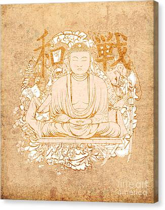 Buddha Painting Antique Canvas Print