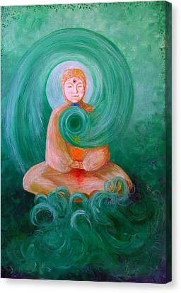 Buddha Painting Canvas Print by Avril Whitney