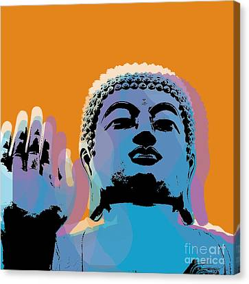 Buddha Pop Art - Warhol Style Canvas Print by Jean luc Comperat